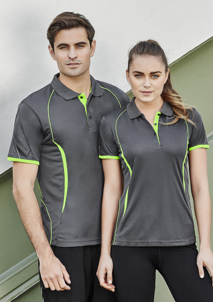 ACTIV EMBROIDERY DESIGNS. MENS RAZOR POLO