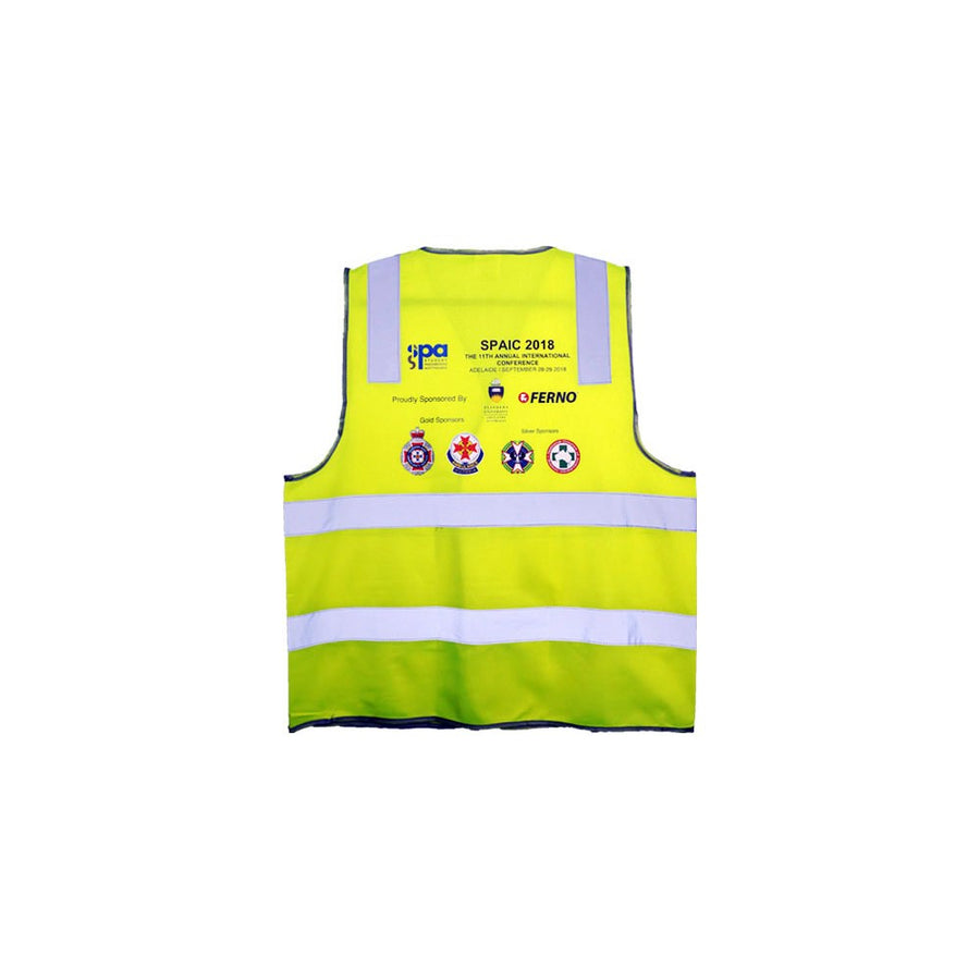 Hi-Vis Safety Vest With Full Colour Transfer Printing
