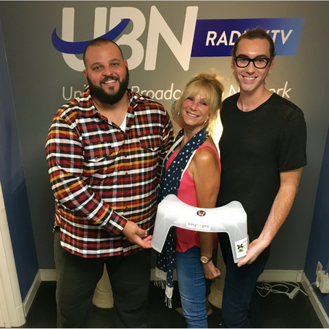Danny F and Wendi Cooper at UBN Radio TV in Hollywood with easyGopro