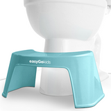 Blue easyGokids ergonomic toilet stool for constipation and proper toilet posture