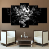 LIMITED EDITION - 5 PIECE DANCING GANESH CANVAS