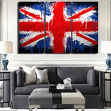 LIMITED EDITION - 3 PIECE UNION JACK CANVAS