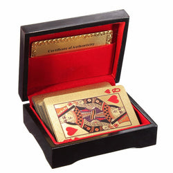 24K Gold-Plated Playing Cards with Box