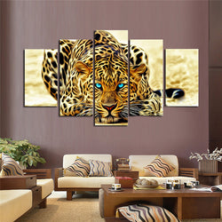 LIMITED EDITION- 5 Piece Abstract Leopard Canvas