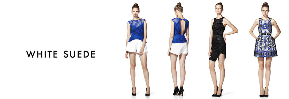 Shop Online The Latest Collection from White Suede | Frockaholics