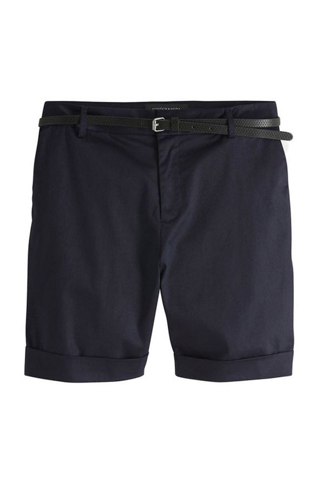 Belted Chino Shorts in Night