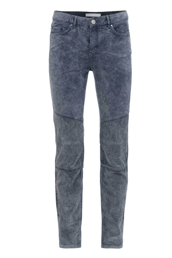 Shop Online Velour Skinny Pants in Dark Blue by Yaya | Frockaholics.com Bottoms