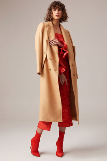Shop Online Aligned Coat in Tan by C/MEO Collective  Frockaholics Jackets & Outerwear