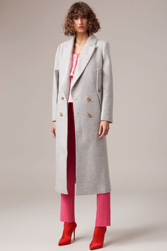 Shop Online Aligned Coat in Grey by C/MEO Collective  Frockaholics Jackets & Outerwear