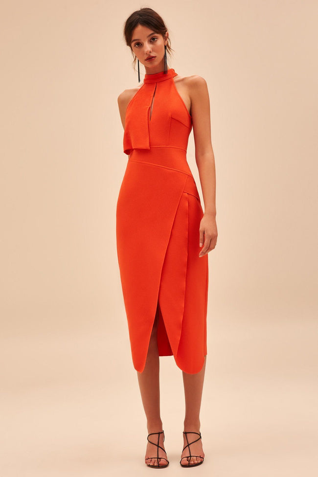 High Heart SS Dress in Morange