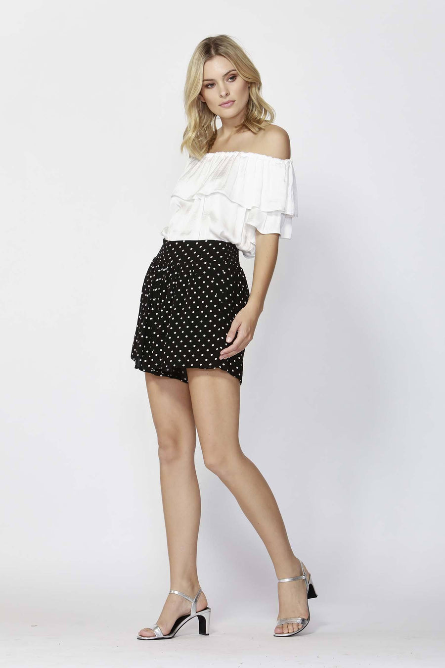Paris Nights Shirred Shorts