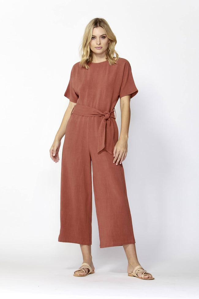 Paris Nights Jumpsuit in Terracotta