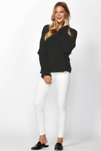 Shop Online Ambre Ruffle Blouse by Sass  Frockaholics Tops