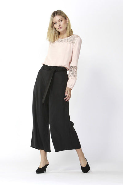 San Marino Cropped Pants in Black Bottoms Fate + Becker