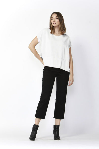 Bob Straight Leg Jeans in Black Bottoms Fate + Becker