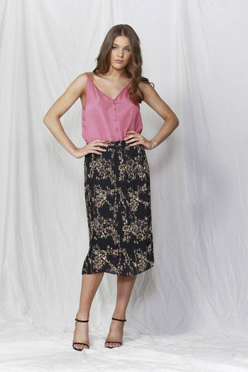 Lille Pleated Skirt in Dolce Vita Print