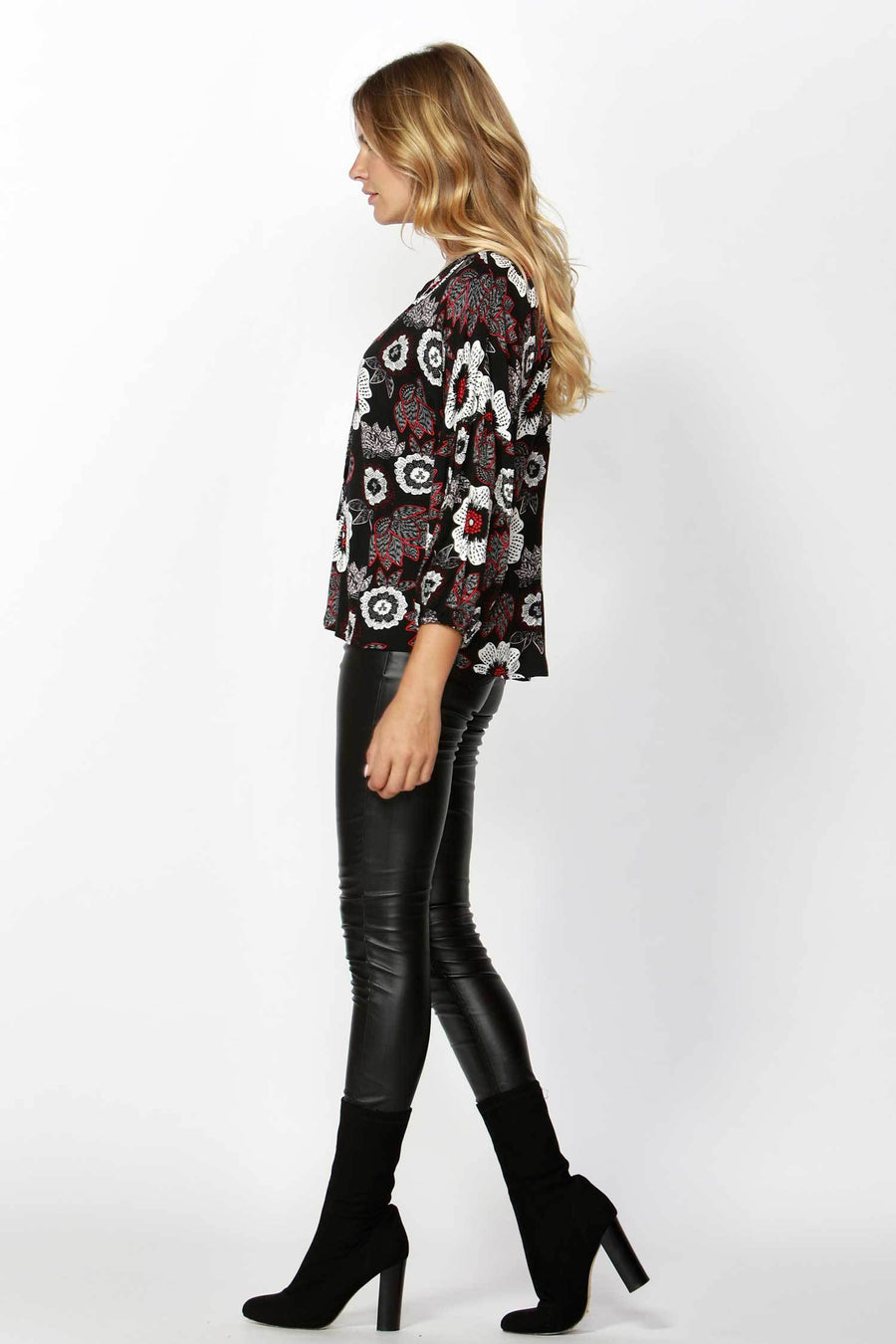 Shop Online Boho Blossom Neck Tie Blouse by Sass  Frockaholics Tops
