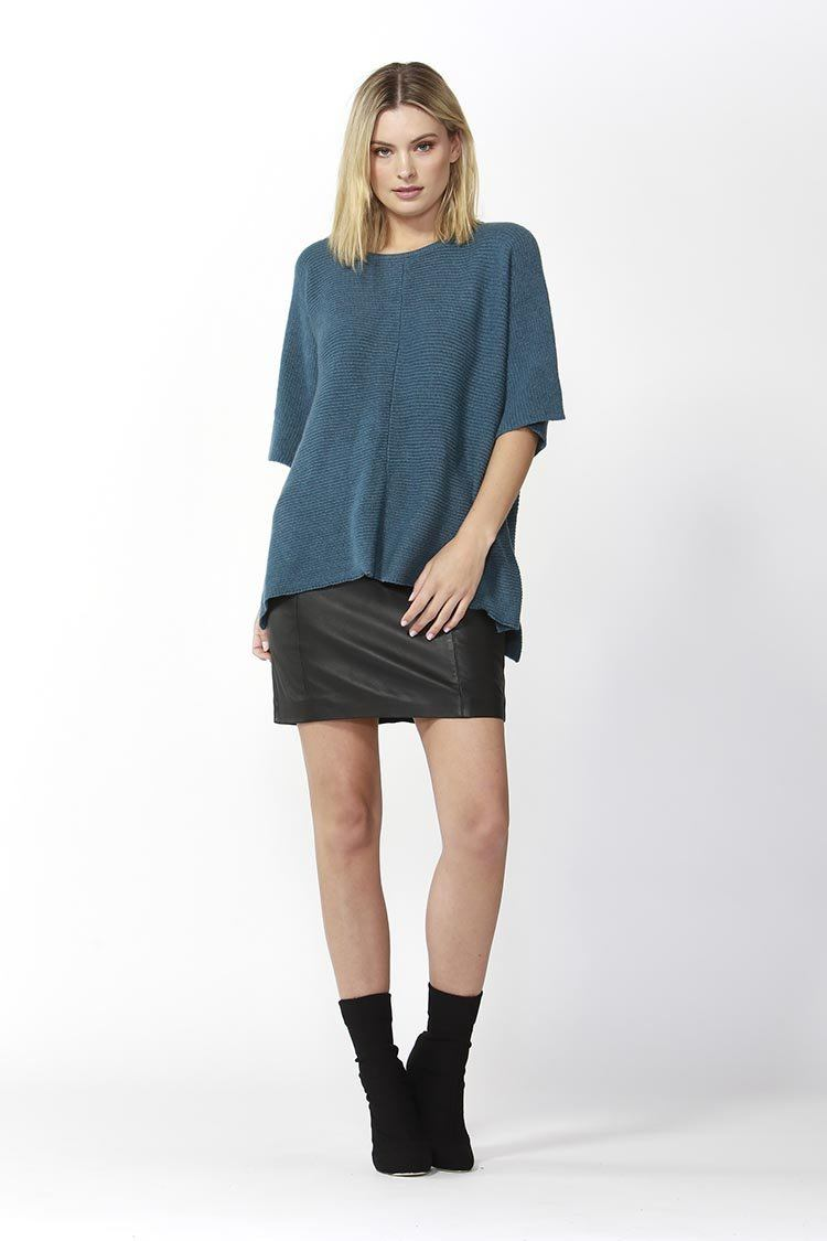 Aveen Cropped Knit in Blue
