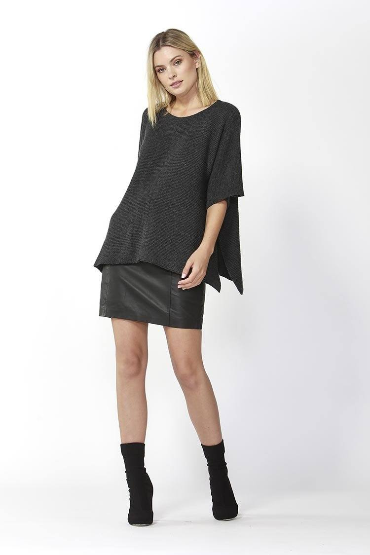 Aveen Cropped Knit in Charcoal