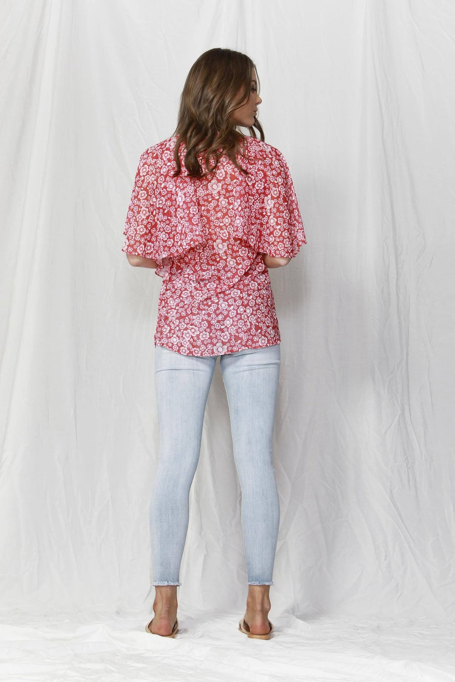 Bronte Top in Positano Print