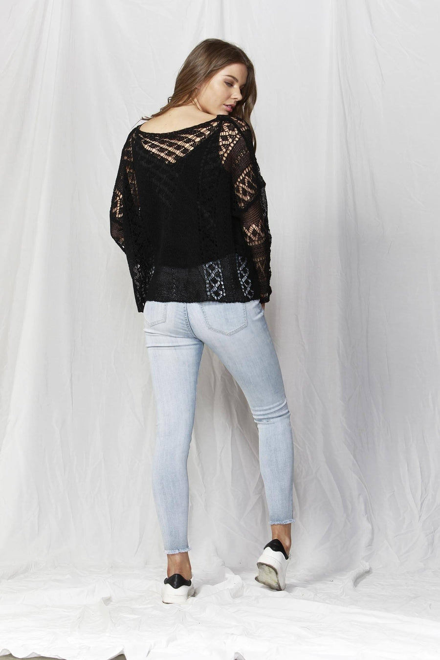 Covent Garden Knit Top in Black