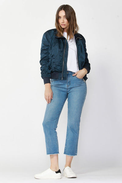 Weekender Bomber Jacket in Navy Night Jackets & Outerwear Fate + Becker