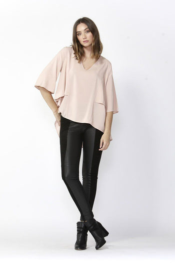 Breezy High-Low Hem Top