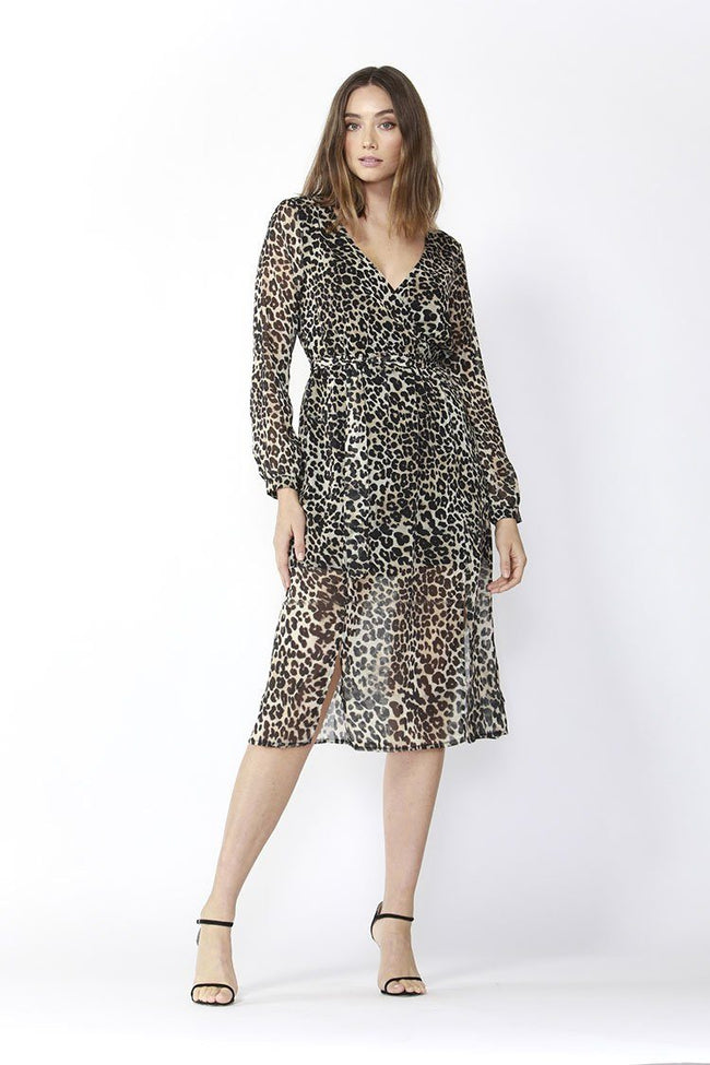 On The Run Dress in Leopard