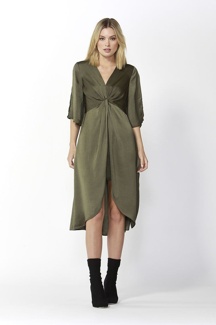 Star Struck Dress in Khaki