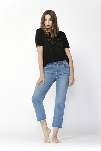 Bob Straight Leg Jeans in Blue Crush