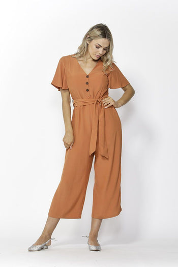 Save The World Jumpsuit in Orange