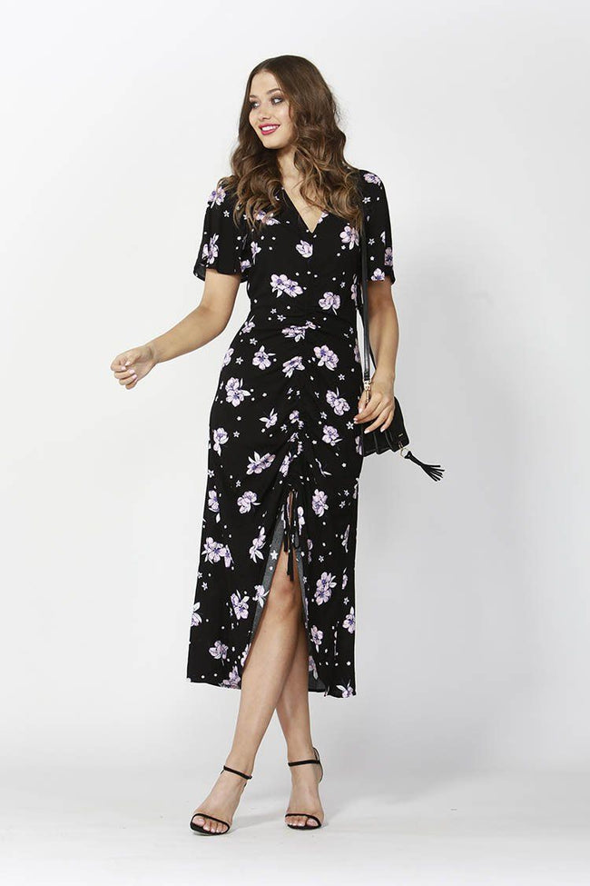 Floral Bouquet Rouched Dress | FINAL SALE