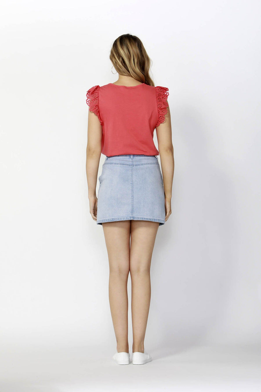 f340e20eb5 Vacation Zip Up Denim Skirt in Sky by SASS | Frockaholics