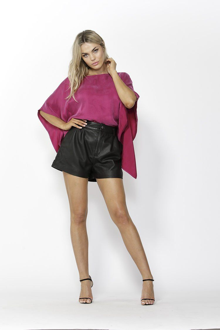 Makeover Blouse in Deep Magenta