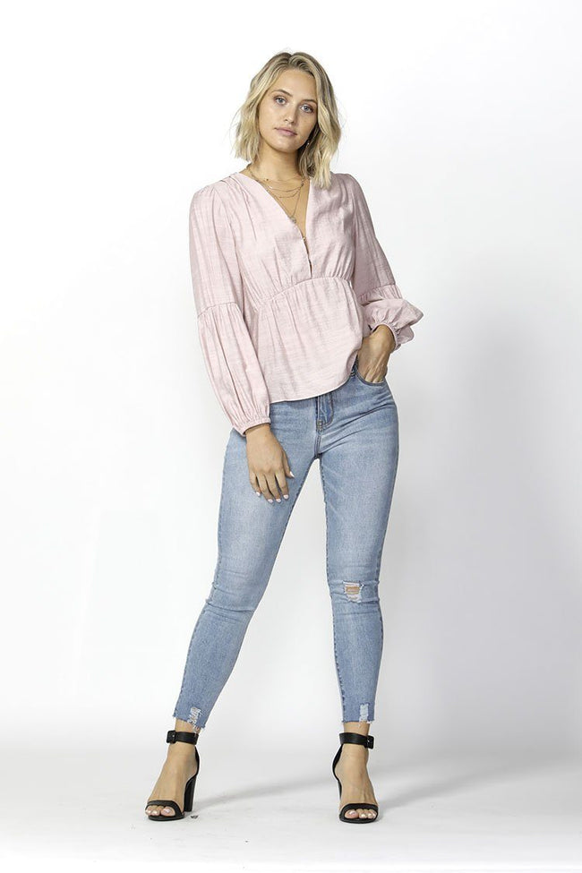 Right On Time Blouse in Lilac