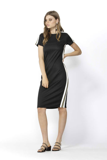 Chemistry Stripe Bodycon Dress