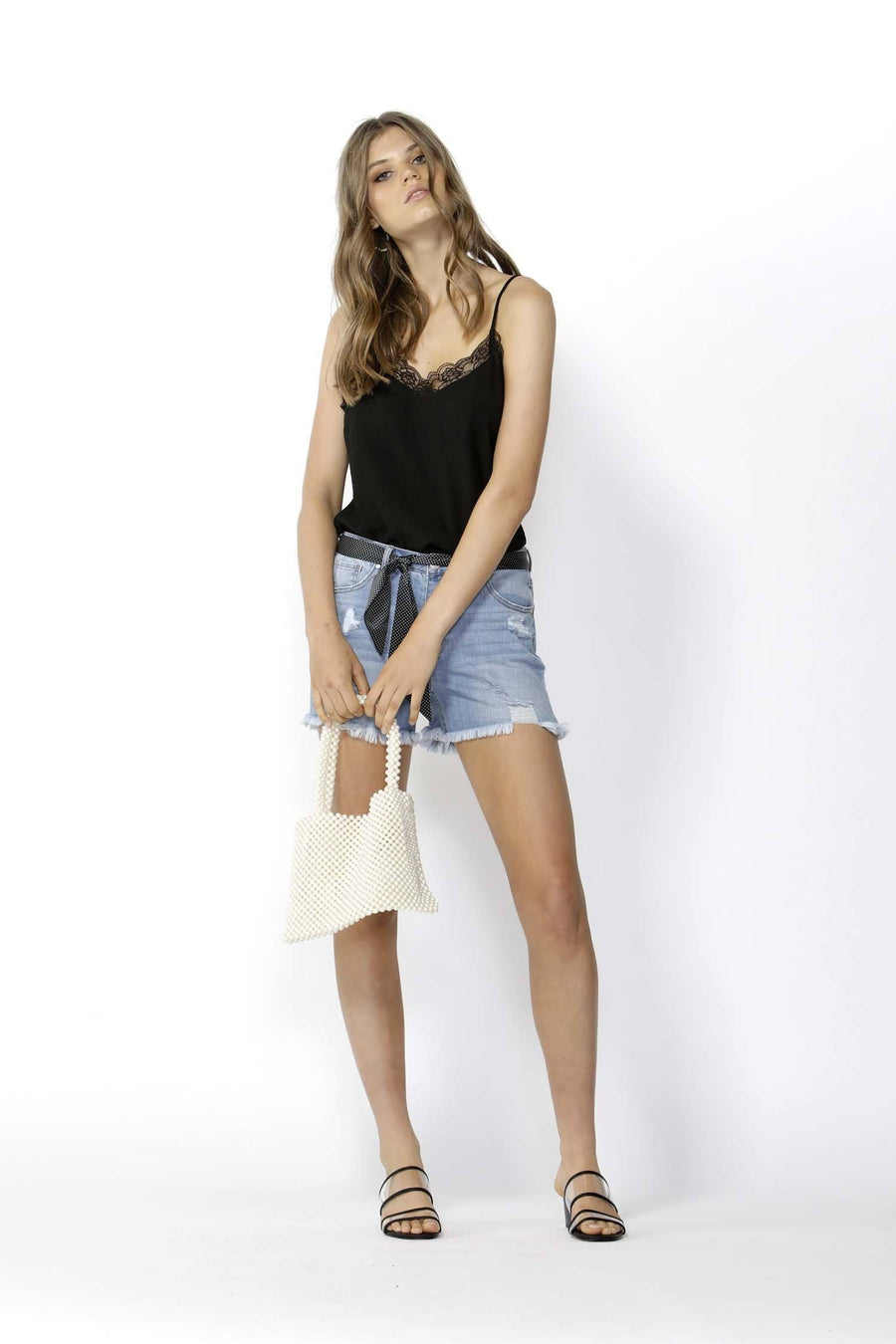 Run Free Cut Off Denim Shorts
