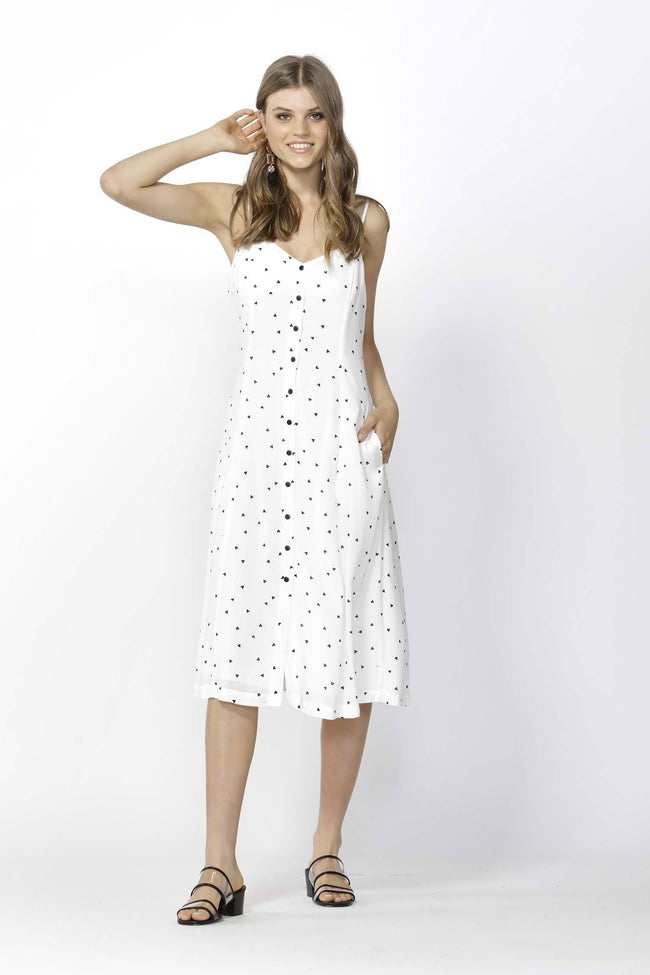 Floating Hearts Slip Dress