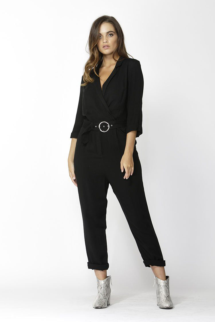 City Slicker Belted Jumpsuit