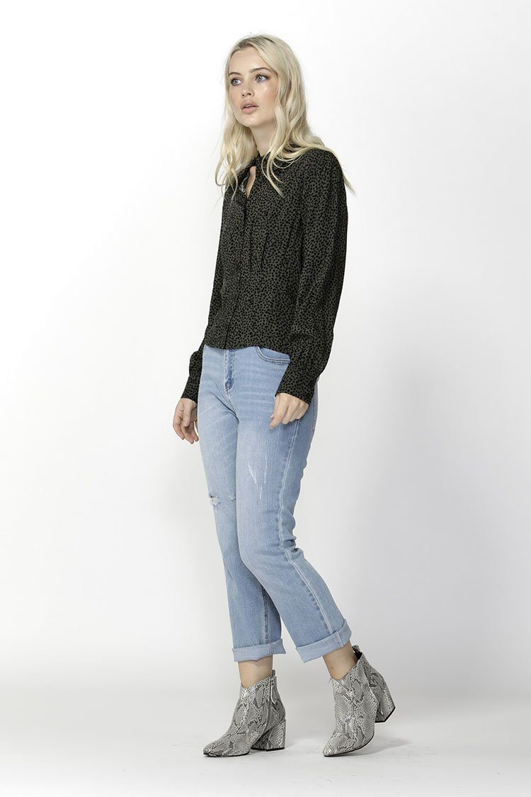 Jungle Dreams Pintuck Blouse