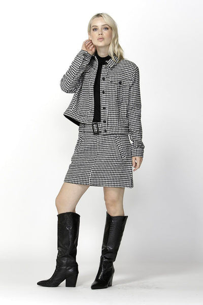 Cher Houndstooth Jacket Jackets & Outerwear SASS