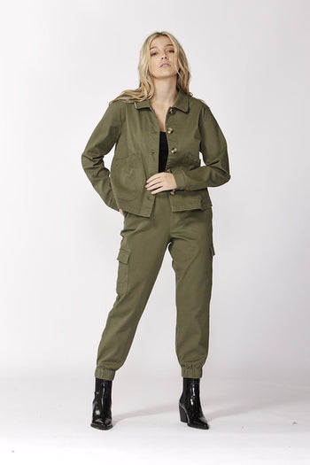 Take Charge Safari Jacket in Fern