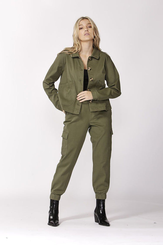 Take Charge Safari Jacket in Fern | FINAL SALE