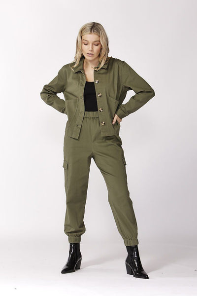 Take Charge Cargo Pants in Fern | FINAL SALE Bottoms SASS