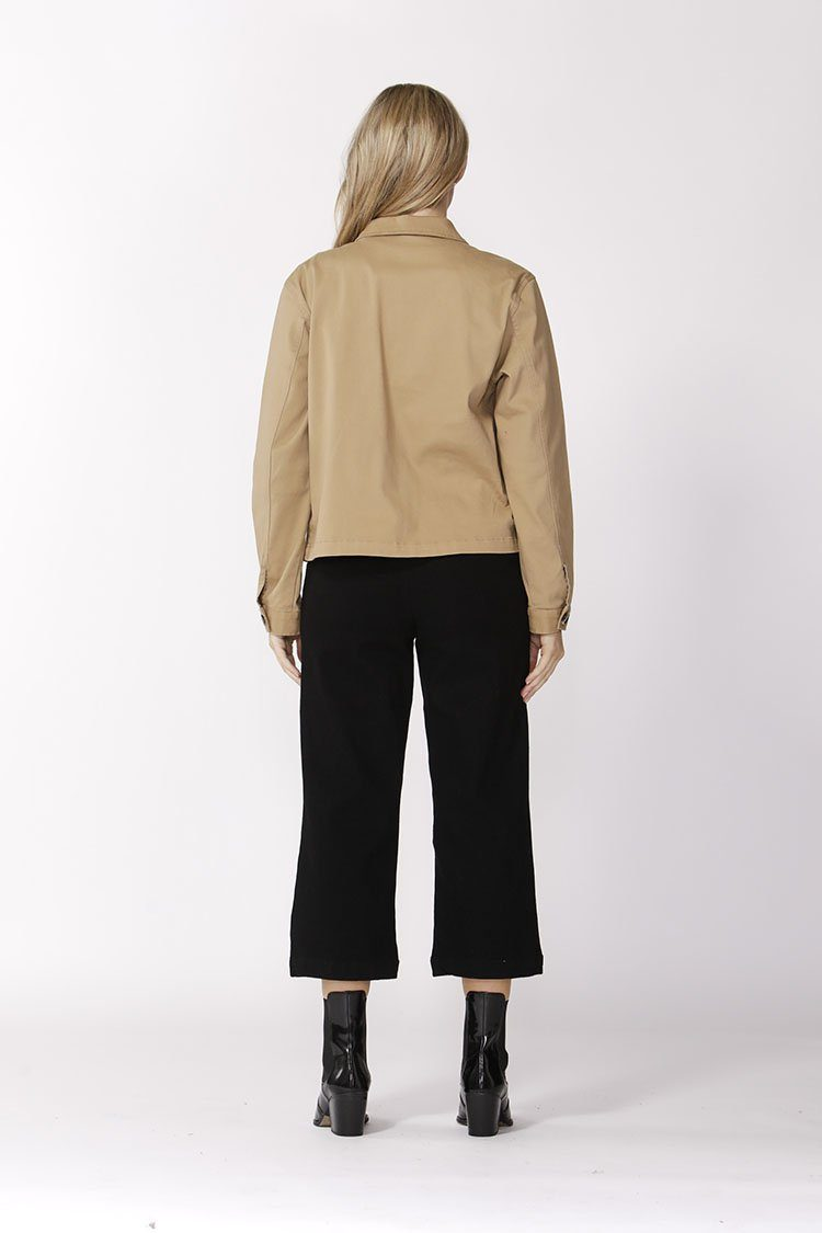 Take Charge Safari Jacket in Latte