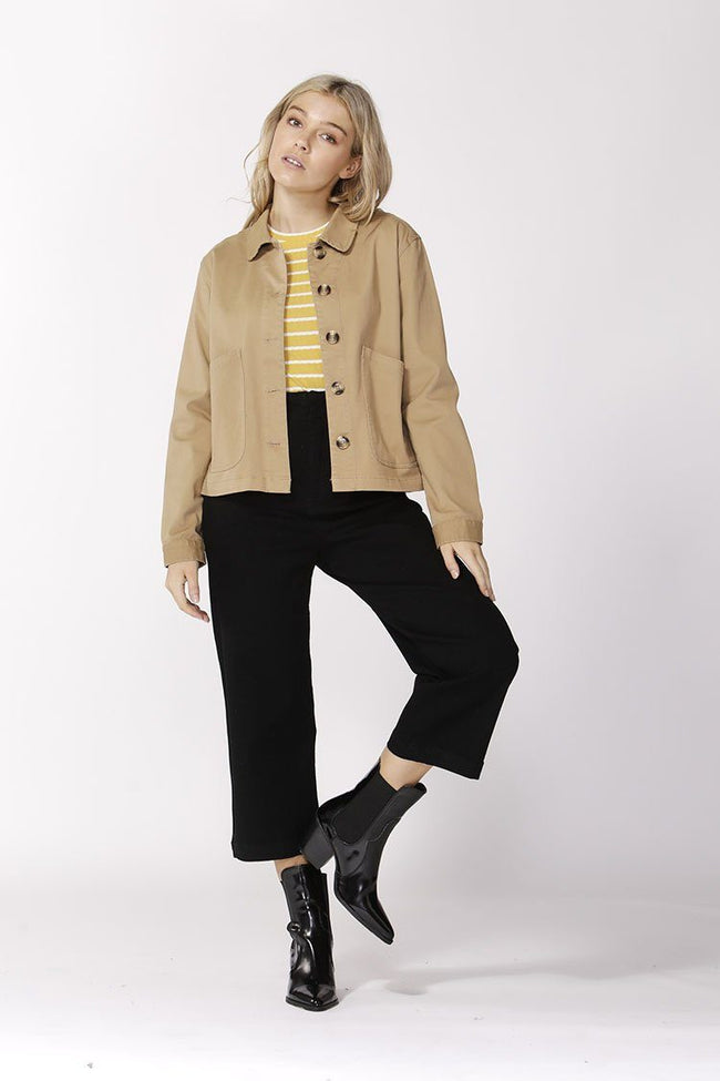 Take Charge Safari Jacket in Latte | FINAL SALE