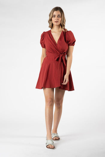 Panama Jack Dress in Brick