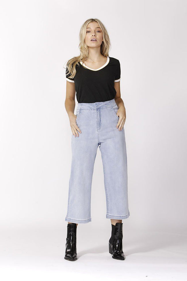 Highwaist Crop Jean in Indigo