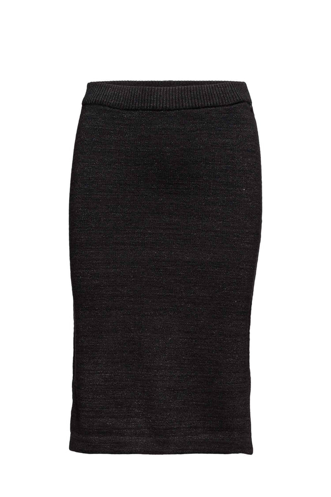 Lurex Knitted Pencil Skirt
