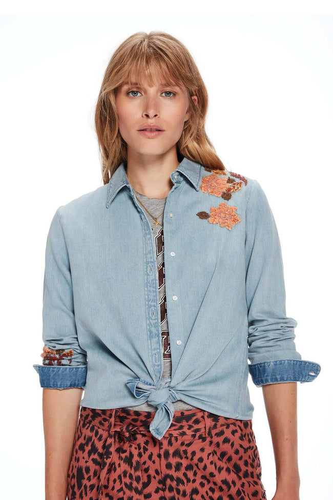 Light Wash Denim Shirt in Combo F | FINAL SALE